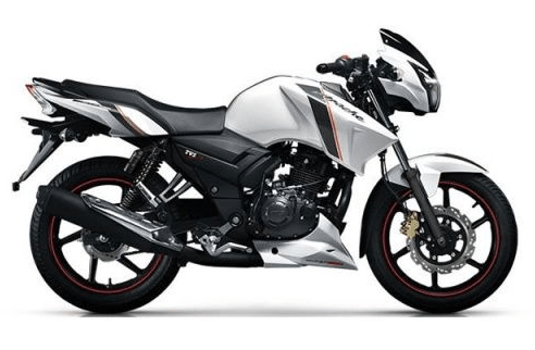 TVS Apache RTR 150 White color