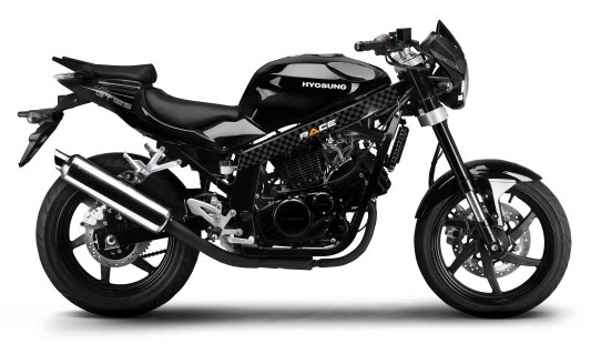 Race Hyosung GT125 Black