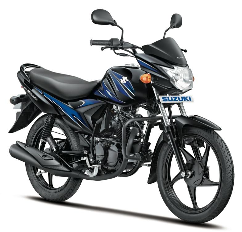 Suzuki Hayate Black with Blue Graphics