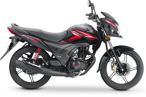 Honda CB Shine Black Red