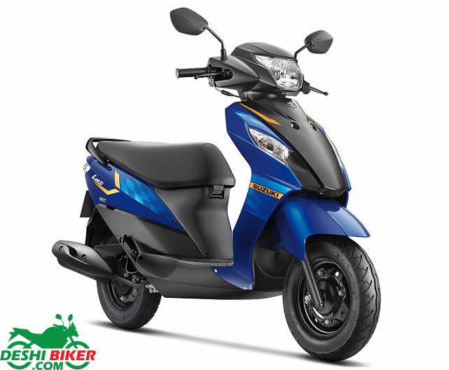Suzuki Lets Blue & Black
