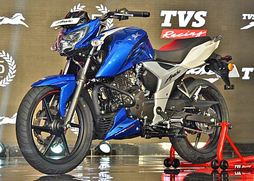 TVS Apache RTR 160 4V Blue New