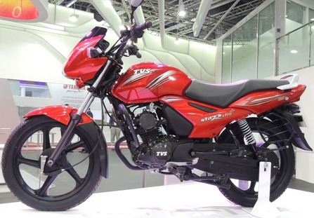 TVS Metro Plus Red color