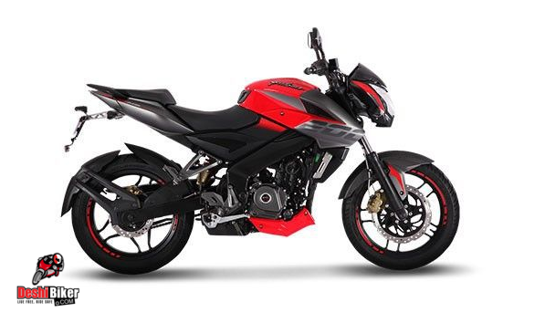 bajaj pulsar ns 200 wild red