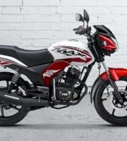 TVS Max 125 Red and White