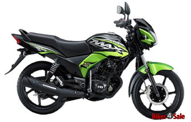 TVS Max 125 green and black