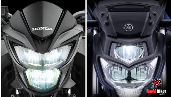 CB Hornet vs FZs V3 headlight
