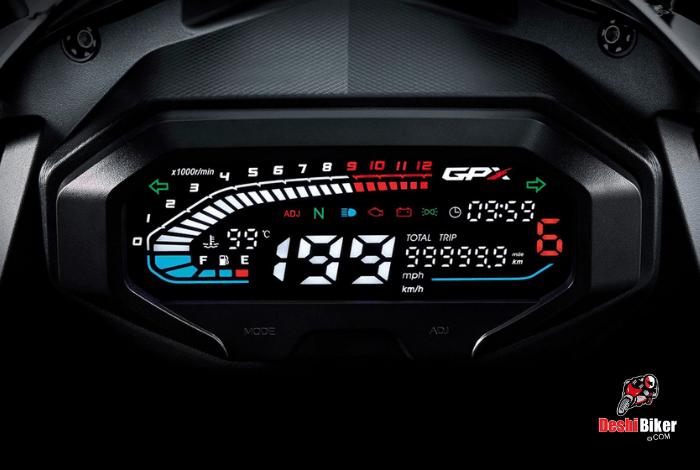 Dashboard GPX Demon GR 165R
