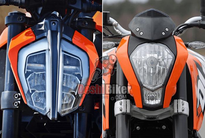 KTM Duke 125 Indian Vs European
